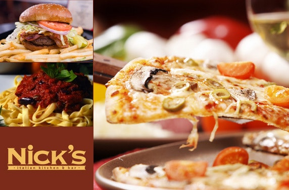 Meal For Two Plus A Bottle Of Wine At Nick S Italian Kitchen Bar And