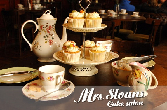 Vintage afternoon tea with Prosecco at Mrs Sloans Cake Salon – save up to 55%