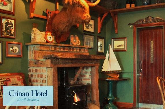 Award-winning overnight stay at Crinan Hotel