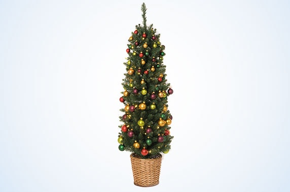 4ft pre lit pre decorated christmas trees 2 styles