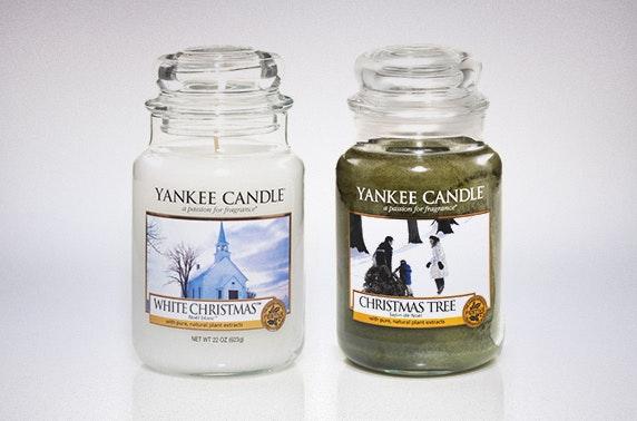 white christmas christmas tree yankee candles - Yankee Candle White Christmas