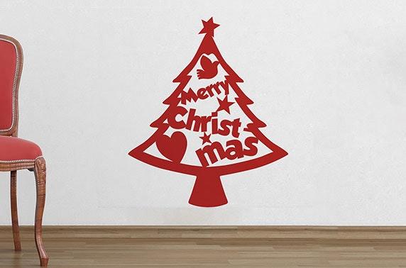Christmas Tree Cutout.Cutout Christmas Tree Wall Sticker From The Binary Box