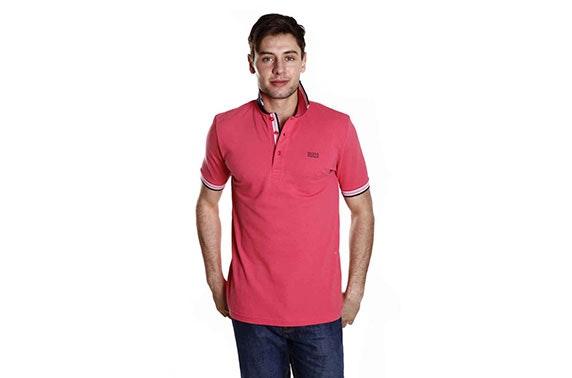 bbd4d7c1bdcc Hugo Boss Men's Polo Shirt in Light Pink – itison