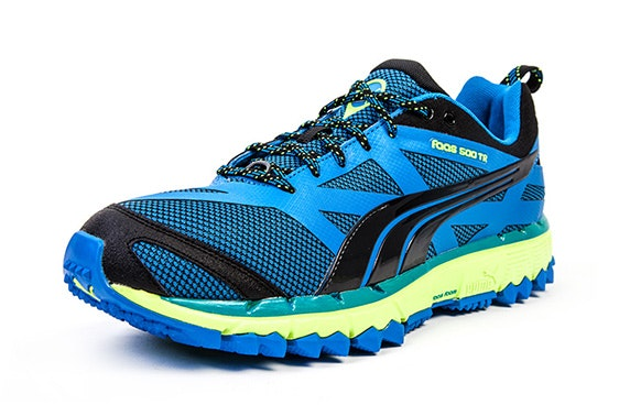 Puma Faas 500 TRF3 Blue and Yellow Running Trainers – itison cdd9b8ffb