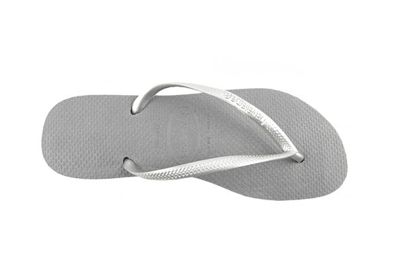 00278bee2 Grey Silver Havaianas Slim Flip-Flops – itison