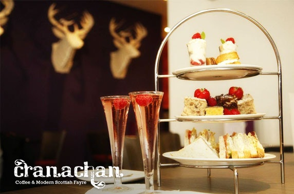 Cranachan Prosecco afternoon tea, Princes Sq
