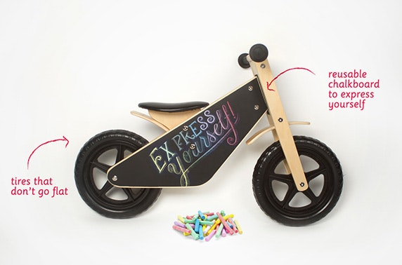 Wooden 'Draw on Me' Balance bike