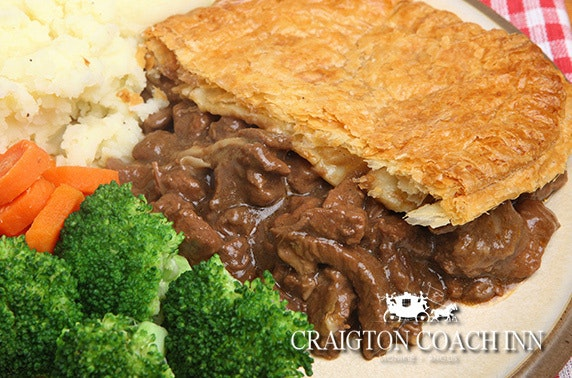 The Craigton Coach Inn lunch, Broughty Ferry