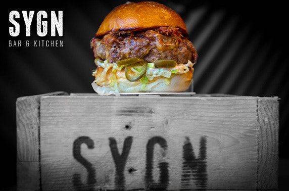 Sygn burgers & cocktails - from £8pp