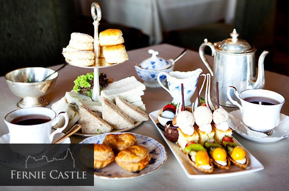 Fernie Castle afternoon tea, Fife