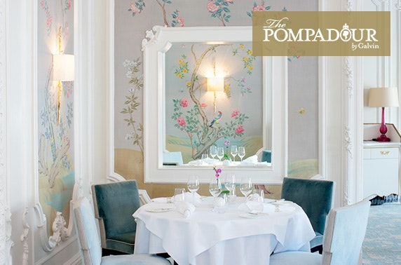 5 courses & wine at 3 AA Rosette-awarded, The Pompadour