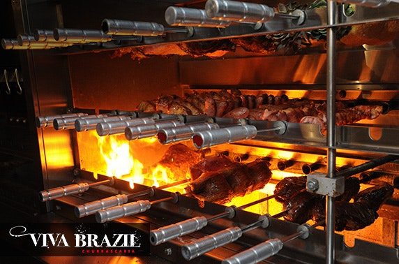 Unlimited rodizio dinner with Caipirinhas at Viva Brazil, City Centre