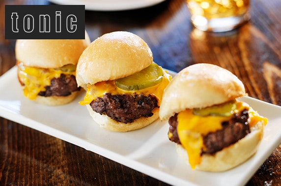 Tonic burger sliders & paired wines – itison