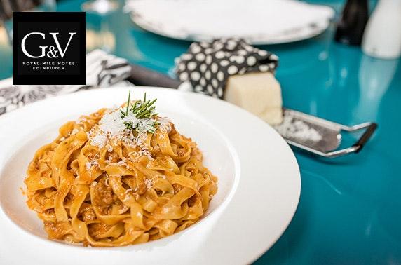 5 g v royal mile hotel dining itison for Cucina g v hotel