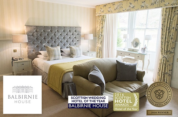 Award-winning Balbirnie House stay