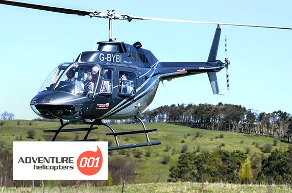 Helicopter flight; choose from 7 locations
