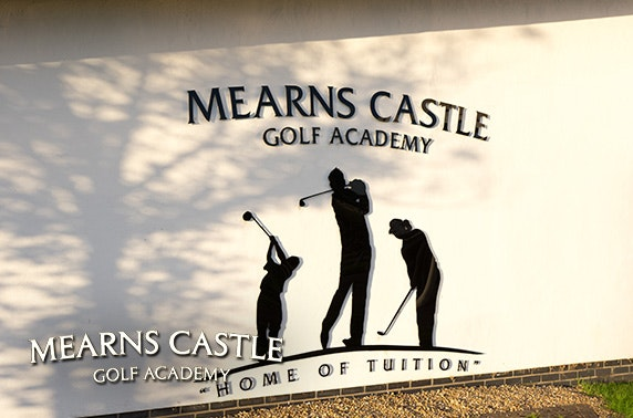 4* Mearns Castle Golf Academy round & driving range