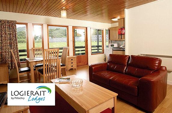 Logierait Lodges break – from  £15pppn
