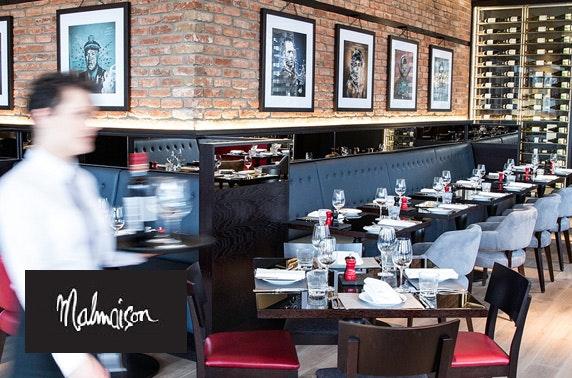 4* Malmaison Edinburgh Prosecco dining