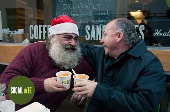 Buy a homeless person Christmas dinner with Social Bite