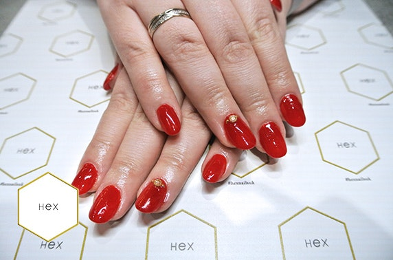 Hex Nails gel and mini manicure