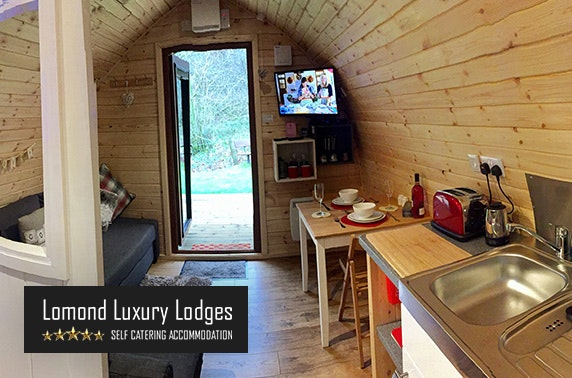 Lomond Luxury Lodges stay with private hot tub