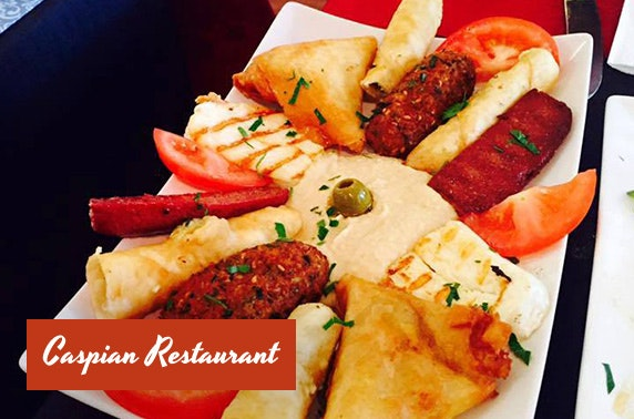 Turkish mezze at Caspian Restaurant, Jesmond