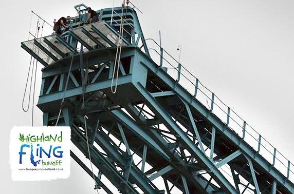 Bungee jump, Clydebank's Titan crane