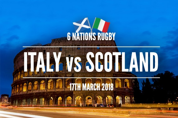 Scotland vs Italy 6 Nations tix & Rome stay