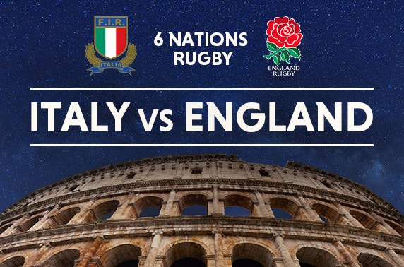 Italy vs England 6 Nations tix & Rome stay