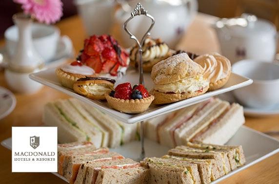 4* Macdonald Drumossie Hotel afternoon tea, Inverness