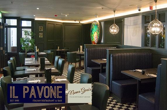 Il Pavone or Nonna Ginna's Italian dining and Prosecco