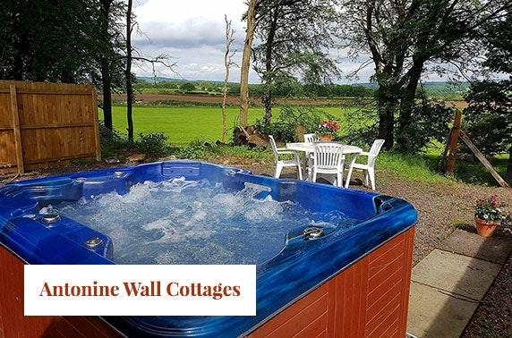 Hot tub cottage break at Hayloft cottage, Antonine Wall Cottages
