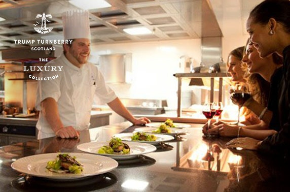 5 course private dining at the chef's table at Trump Turnberry