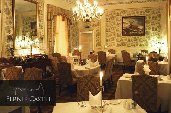 Fernie Castle suite stay, nr St Andrews