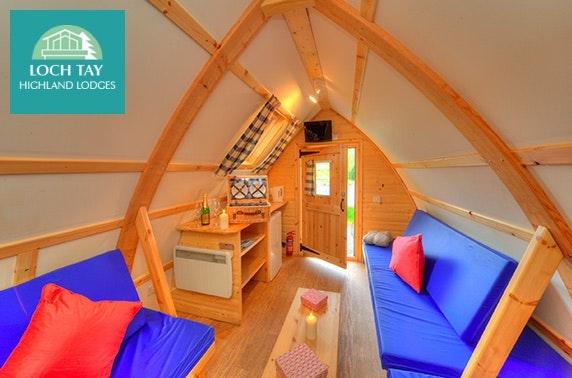 Glamping getaway, Loch Tay Highland Lodges