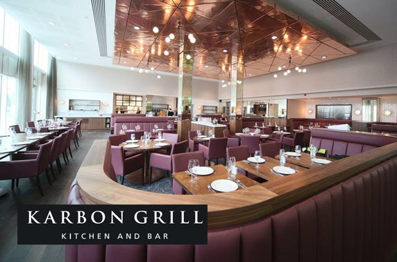 Afternoon tea at Karbon Grill within Hilton Garden Inn