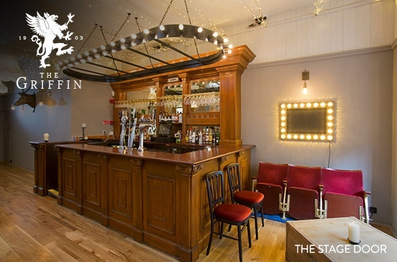 Private cinema hire & meal at The Griffin