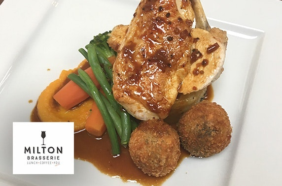 Milton Brasserie lunch