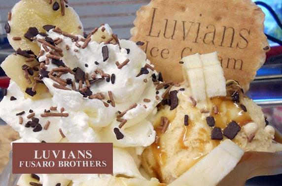 Luvian's ice cream cones & sundaes, St Andrews