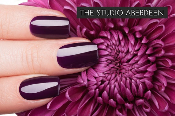 Gel polish nails or spray tan the studio aberdeen itison for Aberdeen tanning salon