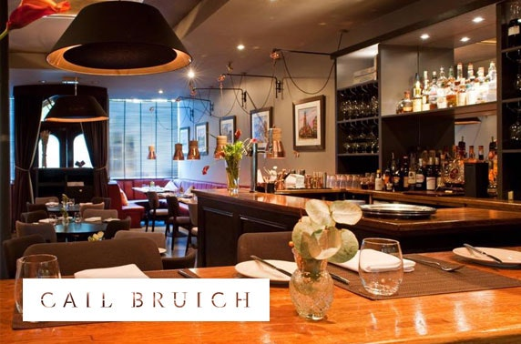 3 AA Rosette Cail Bruich dining, West End