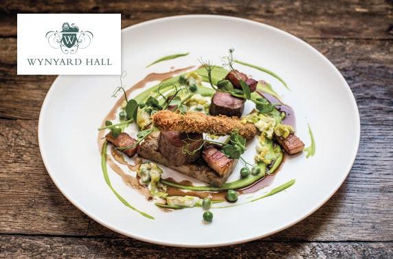 2 AA Rosette 4* Wynyard Hall dining