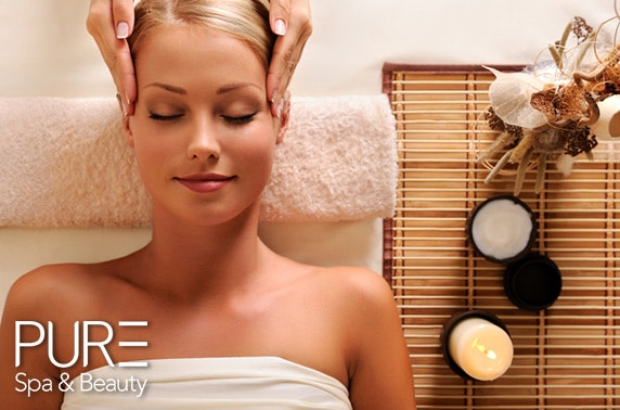 PURE Spa & Beauty facial and deluxe massage, City Centre