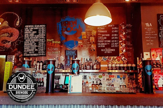 BrewDog pizzas & Prosecco or beers