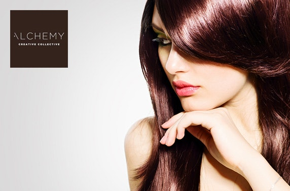 Blow dry, treatment & optional cut, Alchemy
