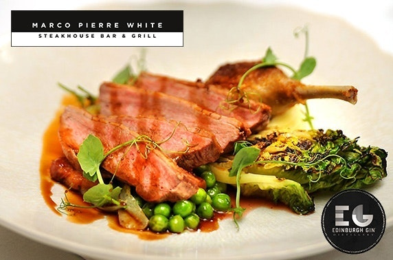 4 course gin tasting menu for two & paired drinks, Marco Pierre White