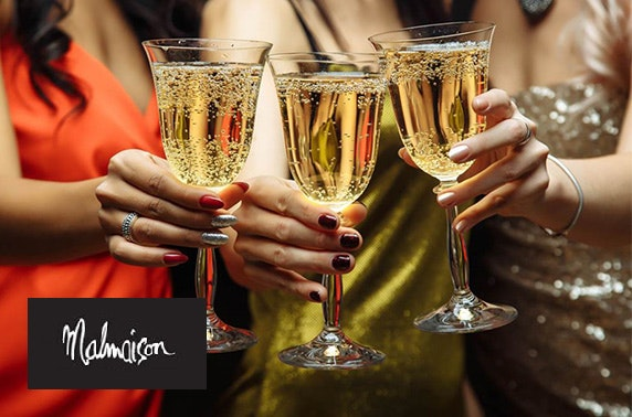 Hogmanay party and dinner at 4* Malmaison Glasgow; ring in 2018 at a party like no other with Champagne, canapés, a 3 course meal and live entertainment