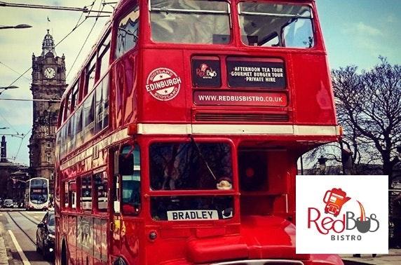 Red Bus Bistro burgers & Edinburgh tour