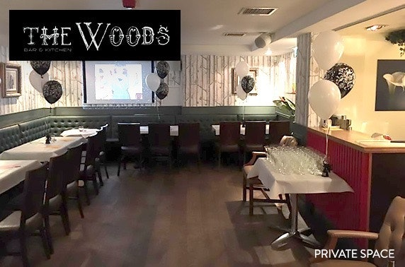 Private party with buffet & drinks at The Woods, City Centre - from £9pp